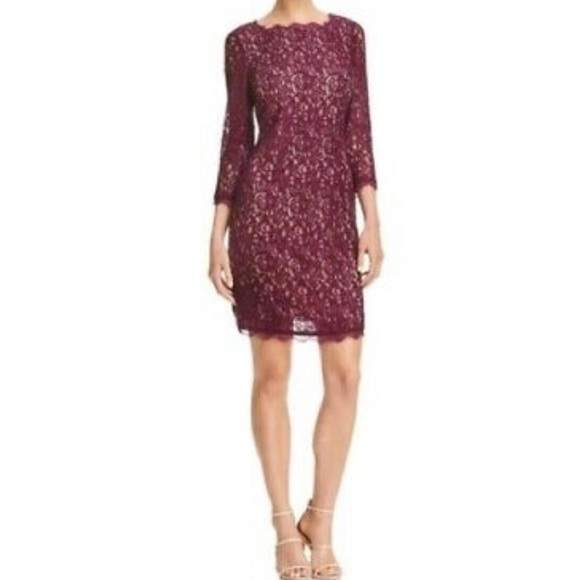 Adrianna Papell Dresses & Skirts - Adrianna Papell Burgundy Cocktail Dress